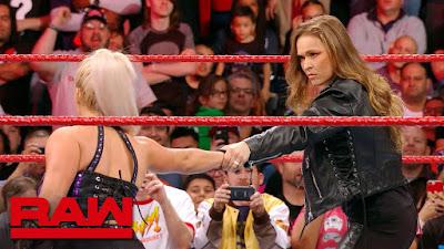 WWE Raw Dana Brook Becky Lynch WrestleMania