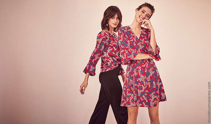 Moda otoño invierno 2019. Ropa de moda otoño invierno 2019 vestidos, blusas y pantalones.