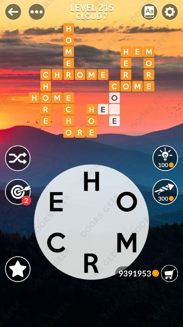 Wordscapes Level 215 Answers Doors Geek