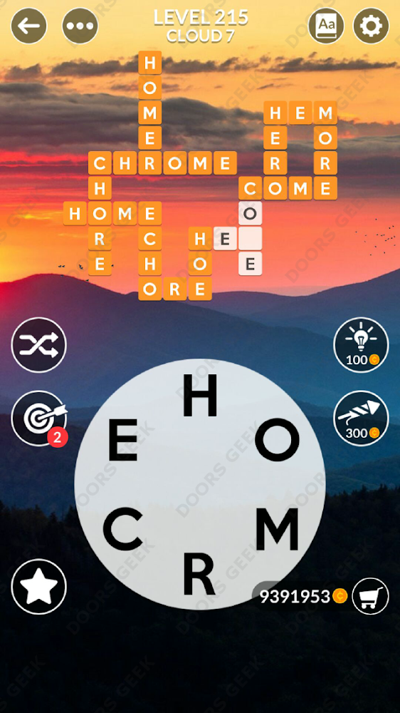 Wordscapes Level 215 answers, cheats, solution for android and ios devices.