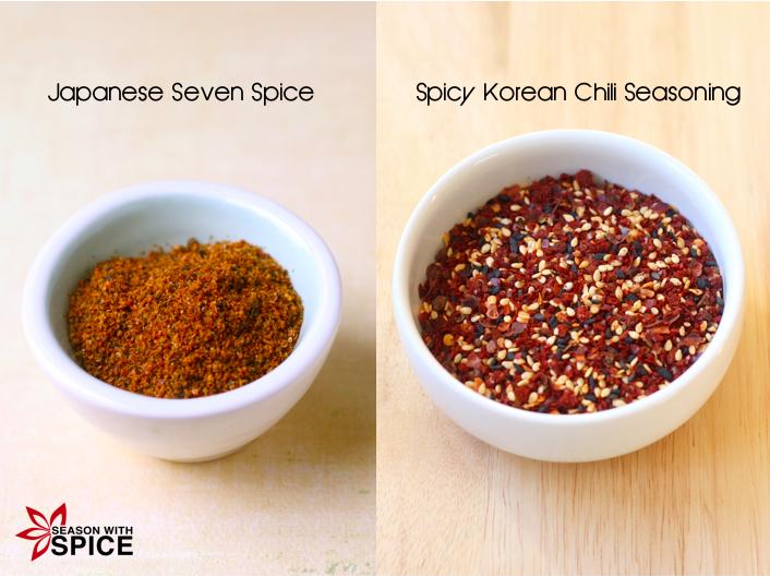 Japanese Seven Spice (Shichimi Togarashi) & Spicy korean Chili Seasoning available at SeasonWithSpice.com