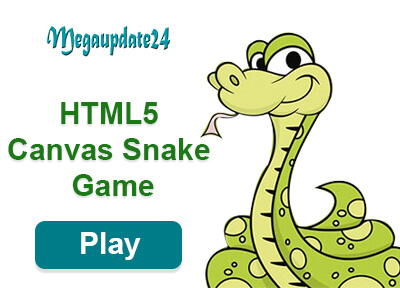 HTML5 Canvas Snake Game: Make With Notepad And Play With Browser