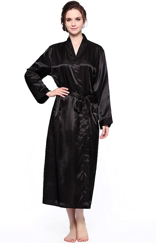 Good Quality Black Satin Robes