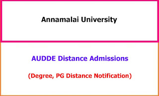 Annamalai University Distance Admissions Notification 2021