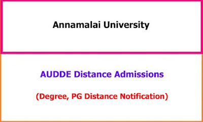 Annamalai University Distance Admissions Notification