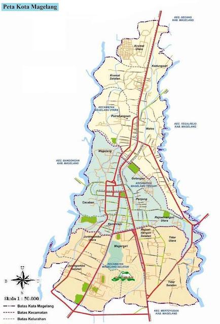 Peta Kota Magelang