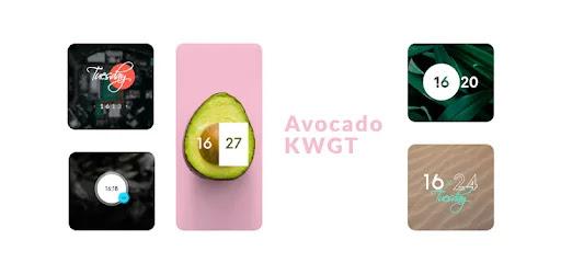 قم بتنزيل Avocado KWGT  - مجموعة من الأدوات المصغّرة الجاهزة لـ KWGT لنظام الاندرويد