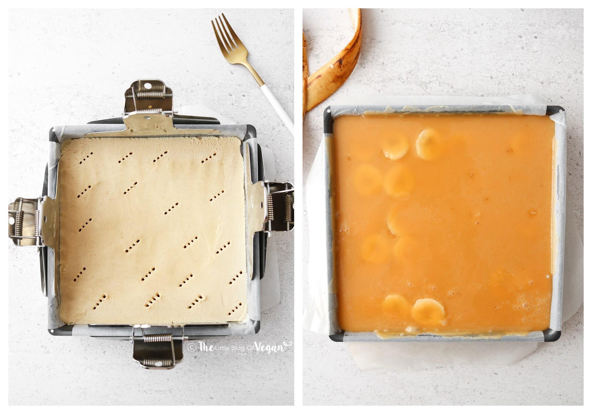 Caramel covered shortbread