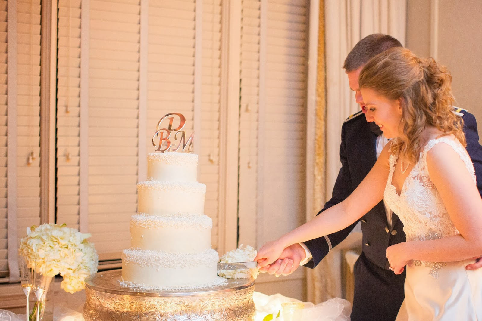 Photo By: T.Y. Photography Virginia Beach Wedding Cake