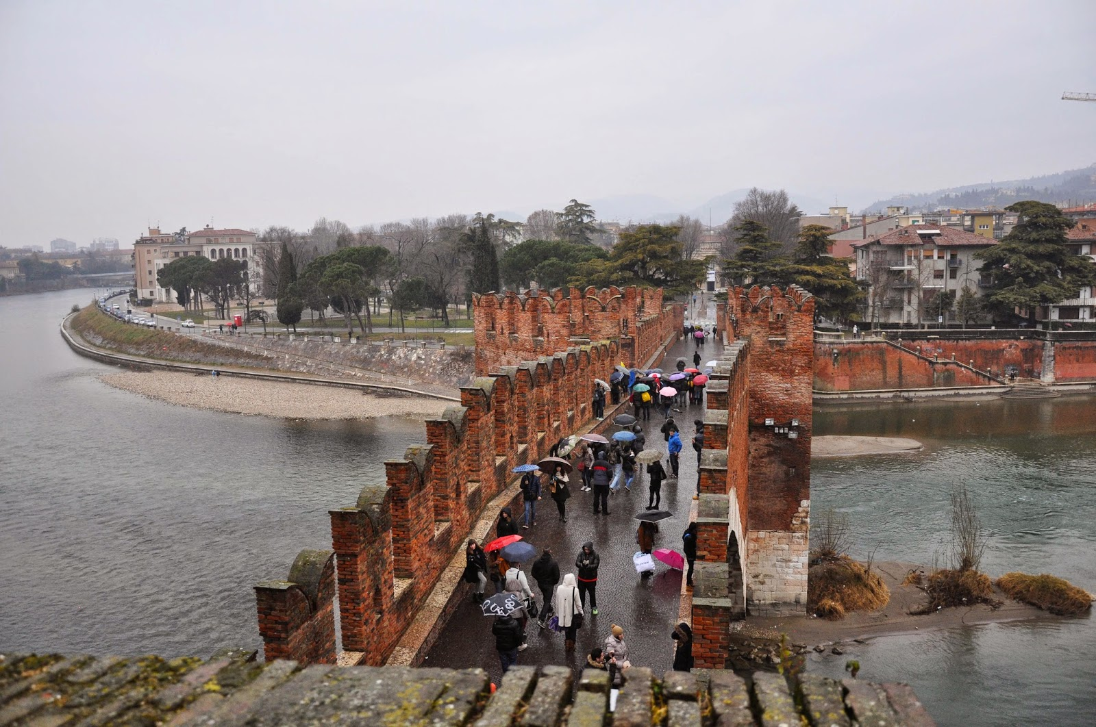 The bridge of Castelvecchio in Verona