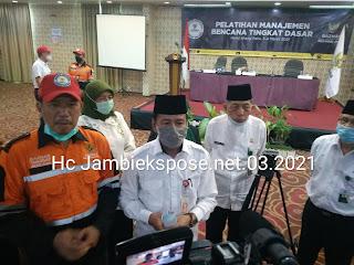 Staf Ahli Gubernur Jambi Secara Resmi Membuka Pelatihan Manajemen Bencana Tingkat Dasar Baznas Provinsi Jambi.