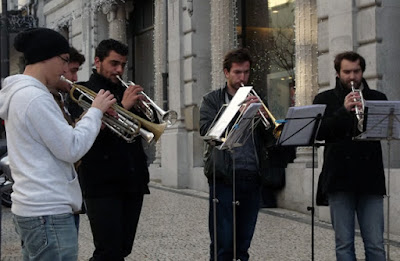 músicos na rua do Porto
