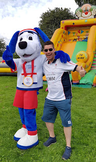 Hope, the mascot of the 2019 World Transplant Games in Newcastle Gateshead