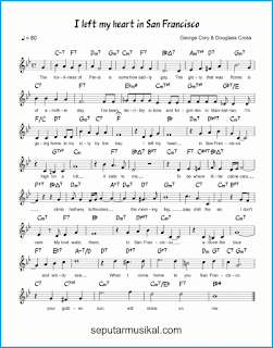 chord i left my heart in san francisco lagu jazz standar