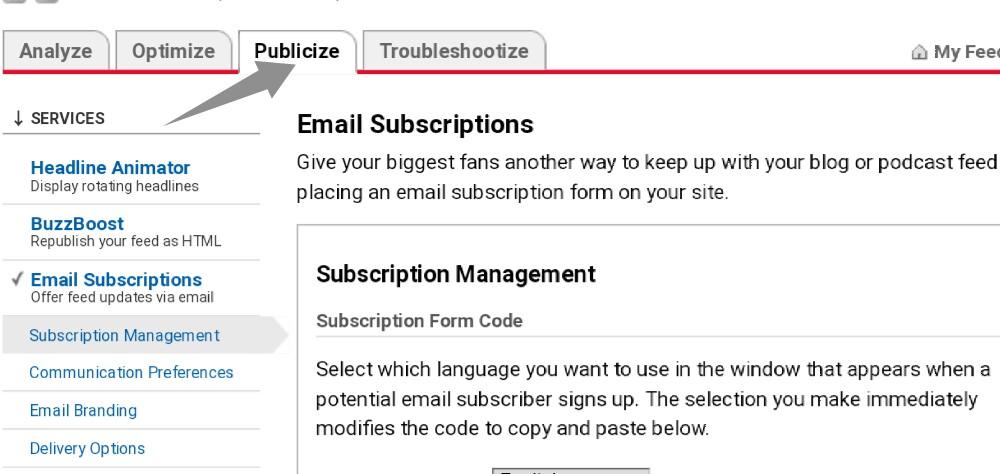 backup FeedBurner subscribers email list step-3