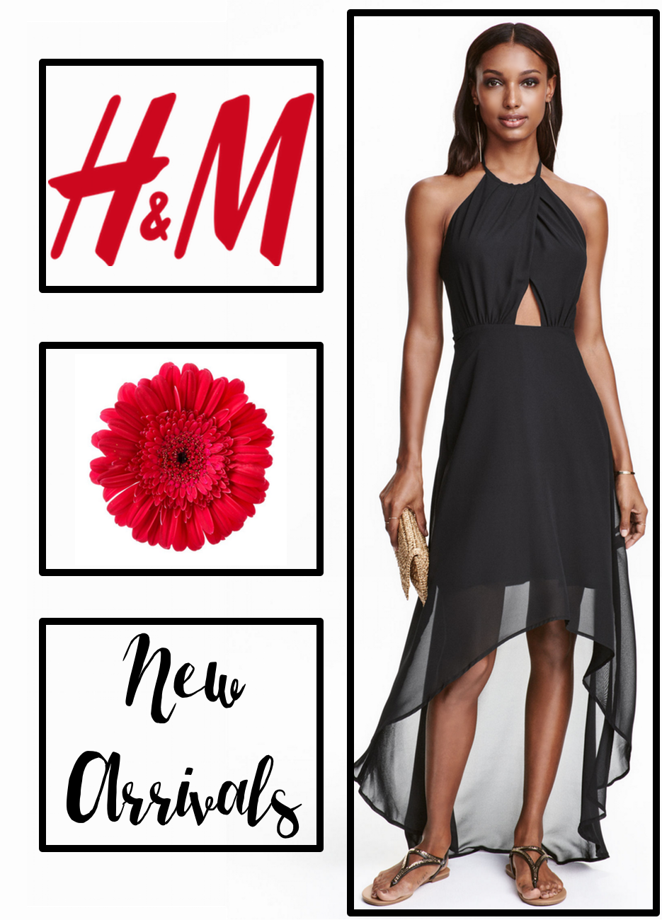 H&M Chiffon Black Dress