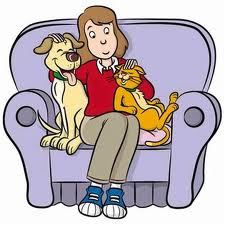 cães com a família