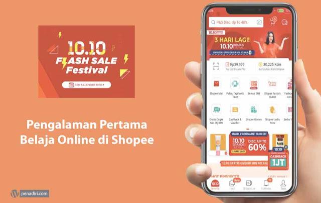 Pengalaman Pertama Belanja Online di Shopee