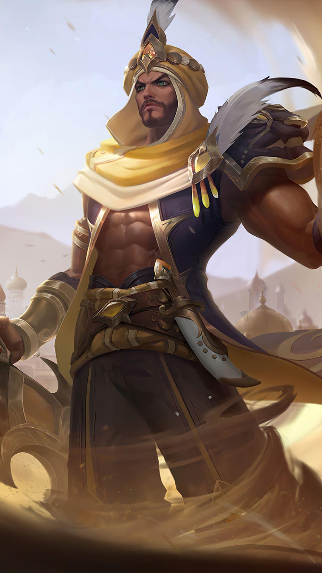 Khaleed prince of sand skin mobile legends hd for mobile hobigame