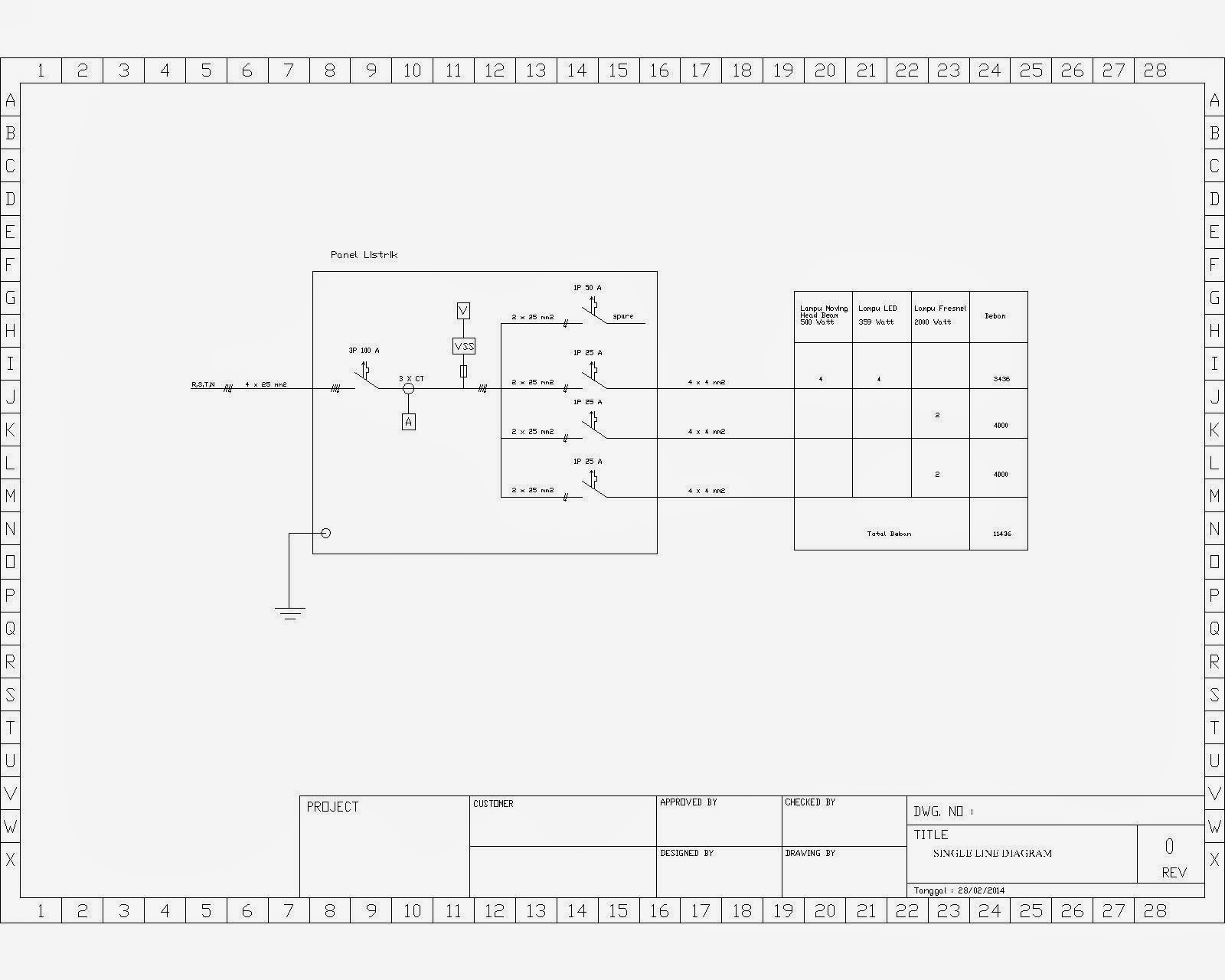 Single Line Diagram Autocad Electrical Mitsubishi Lancer Audio Wiring Mechanical Workshop Jasa Atau