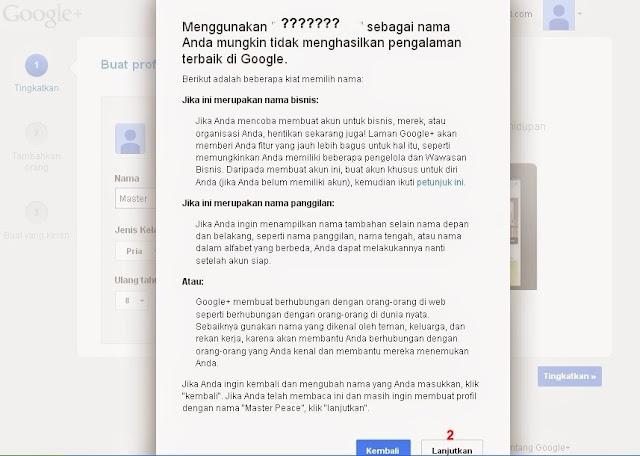 Persetujuan Profil Google+