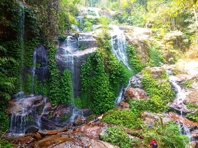 Talang Kemulun Waterfall is tourist attraction in jambi