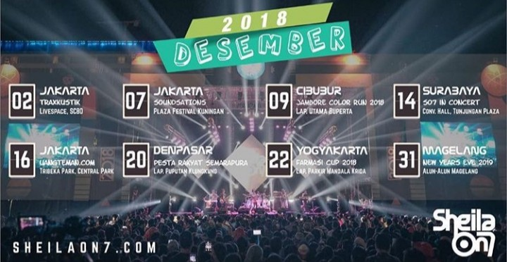 Playlist Lagu Sheilaon7 Yang Sering Dibawakan Saat Live Concert - Menjelang Romantic Tunes Concert 2018