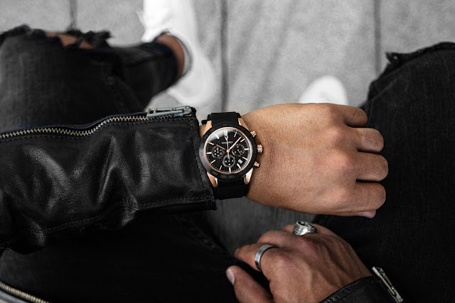 Vincero, The Rogue Rose Gold + Black