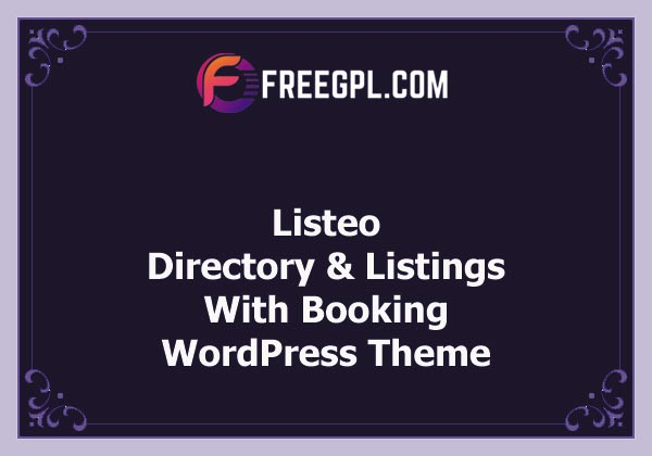 Listeo - Directory & Listings With Booking - WordPress Theme Nulled Download Free