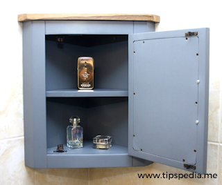 grey corner bathroom cabinet