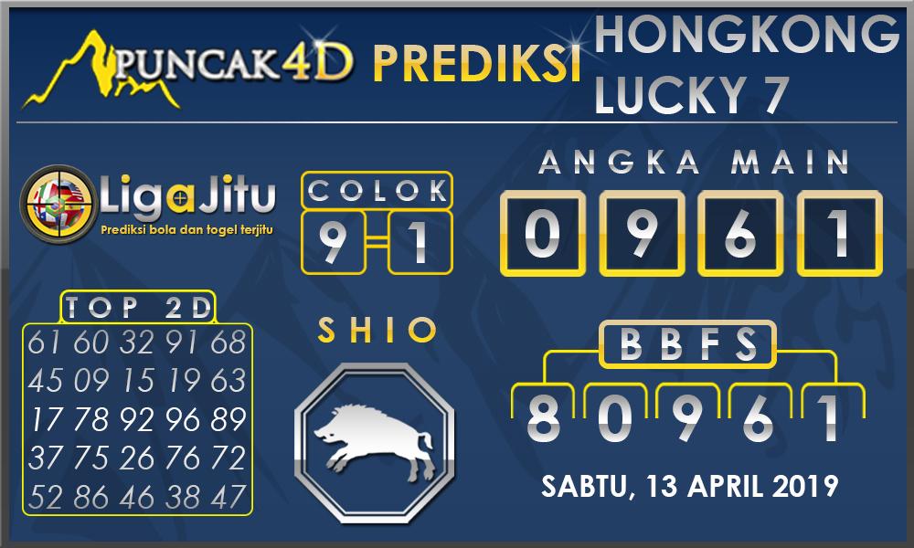 PREDIKSI TOGEL HONGKONG LUCKY7 PUNCAK4D 13 APRIL 2019