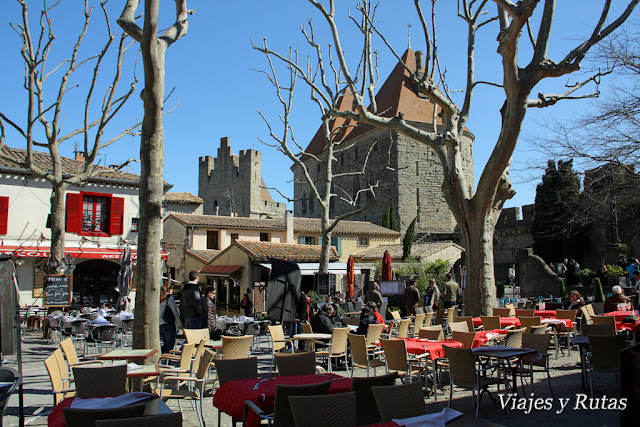 La plaza Marcou de Carcassonne