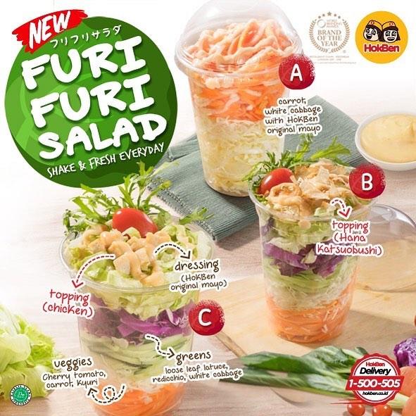 Furi Furi Salad, Menu Baru Hoka Hoka Bento