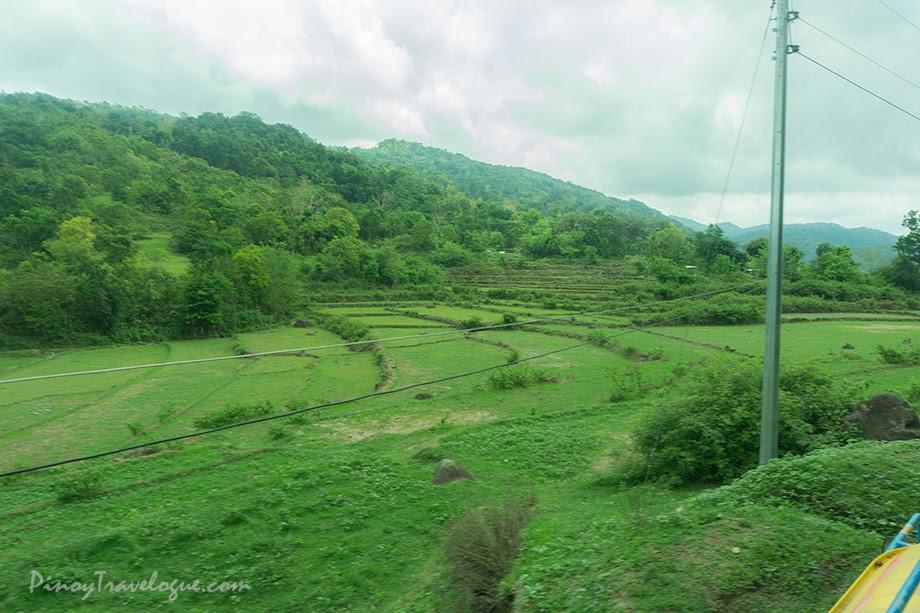 Scenic view on the way to Tangadan Falls