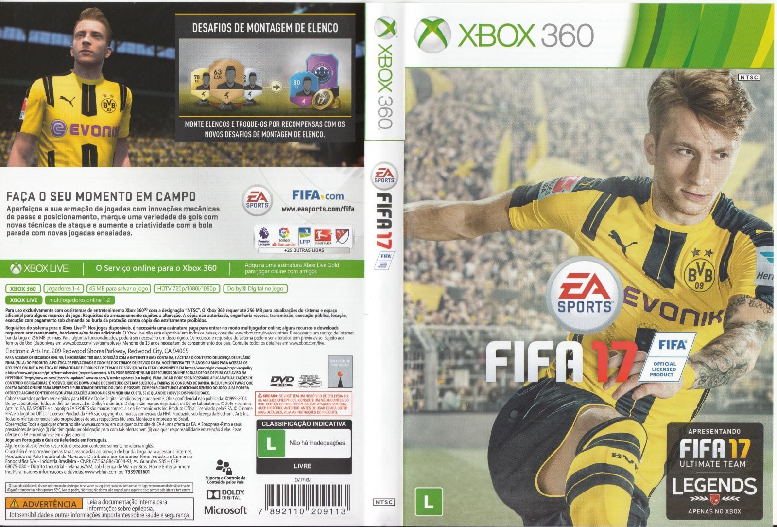 Fifa 17 (2016) Cover Xbox 360 - LT 3.0 - JTAG/RGH Torrent