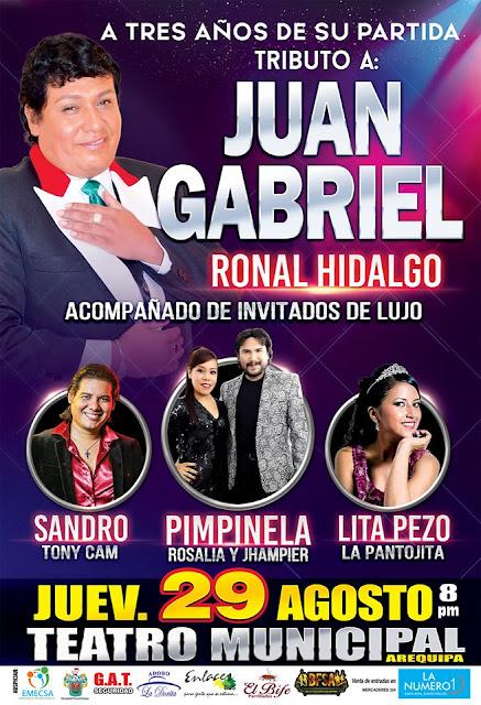 Tributo a Juan Gabriel en Arequipa