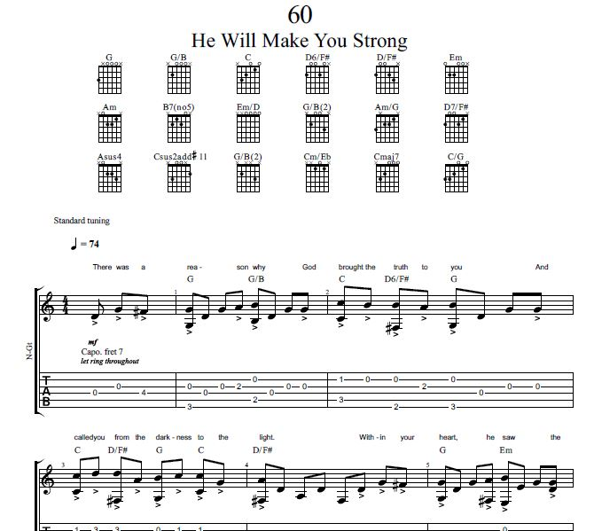 Song 60 Sing To Jehovah Guitar Tab Jw Music Videos