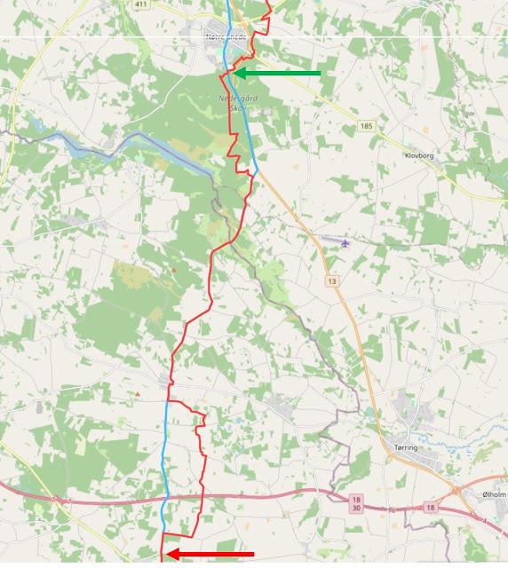 Hærvejen Nørre Snede - Givskud