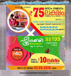 "KeralaLotteriesresults.in, ""kerala lottery result 03.03.2020 sthree sakthi ss 199"" 3rd March 2020 result, kerala lottery, kl result,  yesterday lottery results, lotteries results, keralalotteries, kerala lottery, keralalotteryresult, kerala lottery result, kerala lottery result live, kerala lottery today, kerala lottery result today, kerala lottery results today, today kerala lottery result, 3 3 2020, 3.3.2020, kerala lottery result 3-3-2020, sthree sakthi lottery results, kerala lottery result today sthree sakthi, sthree sakthi lottery result, kerala lottery result sthree sakthi today, kerala lottery sthree sakthi today result, sthree sakthi kerala lottery result, sthree sakthi lottery ss 199 results 03-03-2020, sthree sakthi lottery ss 199, live sthree sakthi lottery ss-199, sthree sakthi lottery, 3/3/2020 kerala lottery today result sthree sakthi, 03/03/2020 sthree sakthi lottery ss-199, today sthree sakthi lottery result, sthree sakthi lottery today result, sthree sakthi lottery results today, today kerala lottery result sthree sakthi, kerala lottery results today sthree sakthi, sthree sakthi lottery today, today lottery result sthree sakthi, sthree sakthi lottery result today, kerala lottery result live, kerala lottery bumper result, kerala lottery result yesterday, kerala lottery result today, kerala online lottery results, kerala lottery draw, kerala lottery results, kerala state lottery today, kerala lottare, kerala lottery result, lottery today, kerala lottery today draw result"