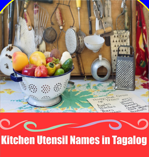 Vocabulary: In the Kitchen: Tagalog to English