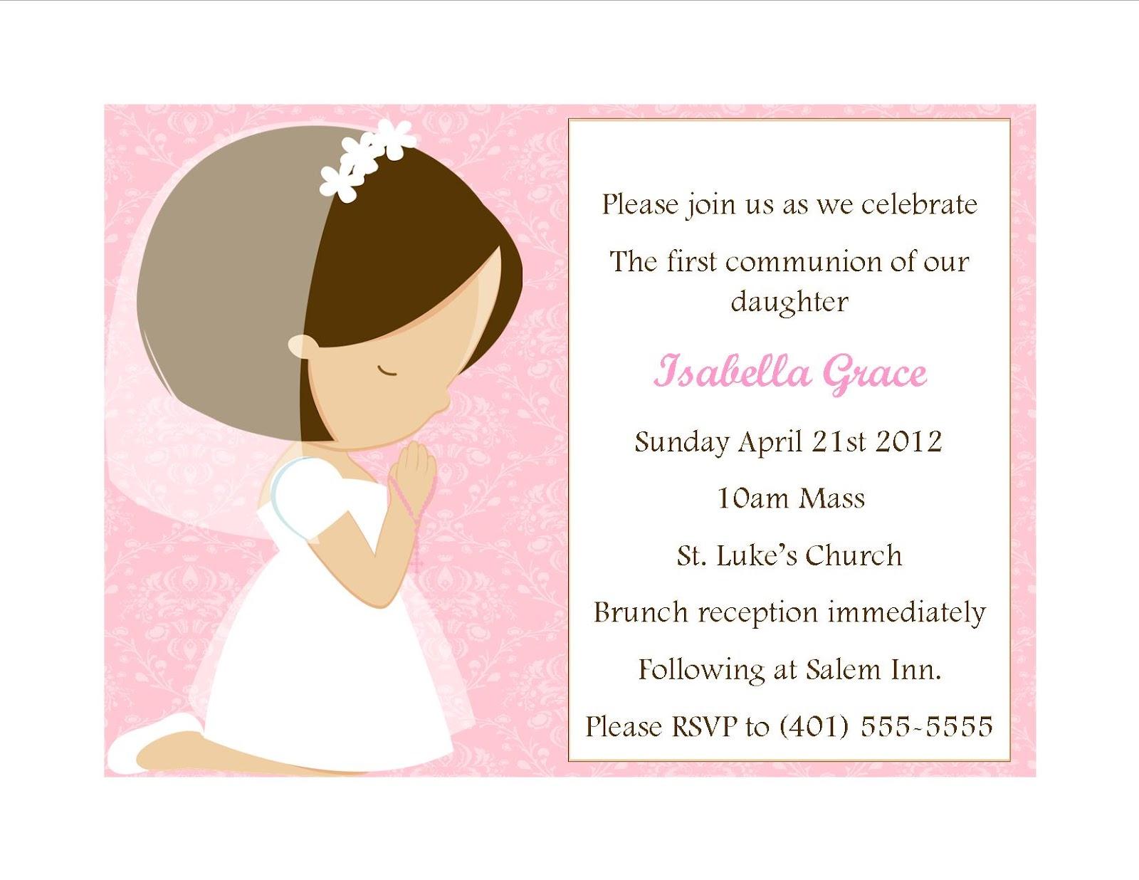 First Communion Invitations Wedding Plan Ideas