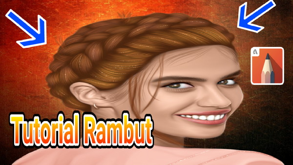 Tutorial Rambut Smudge Painting Di Android Autodesk Sketchbook Pro