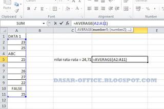 Rumus Rata-Rata di Excel