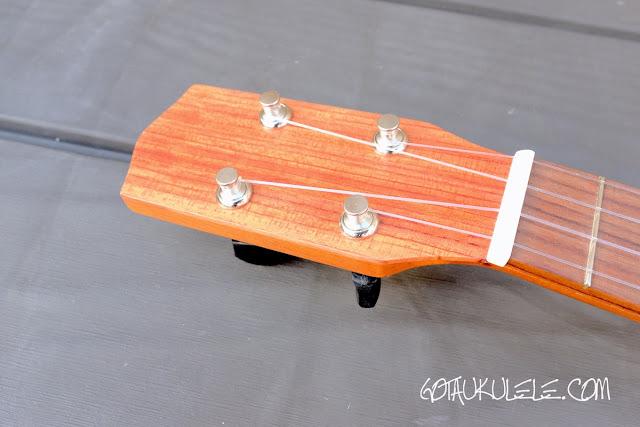 KM Ukuleles Boatpaddle Soprano Ukulele headstock