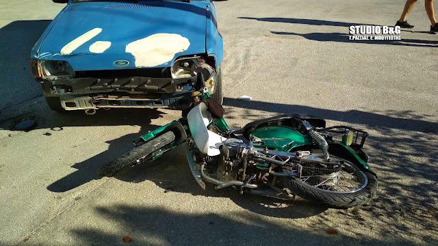 Τροχαίο ατύχημα με έναν τραυματία στο Ναύπλιο