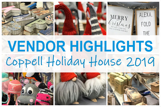 north texas vendor selections by DFW Craft Shows from Coppell Holiday House 2019