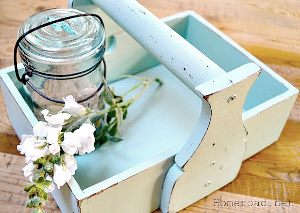 How to make an easy DIY sea glass colored crate. Homeroad.net