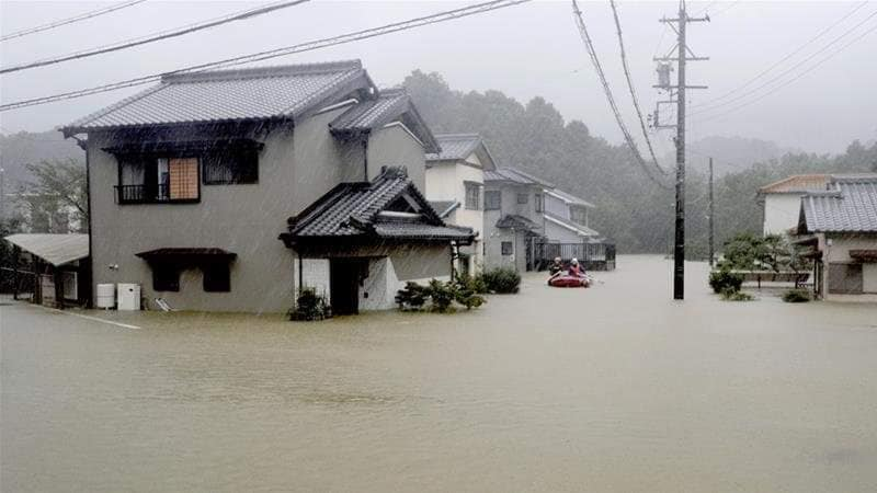 Weather warning was raised to Level 5, the highest scale, for Tokyo and 12 prefectures