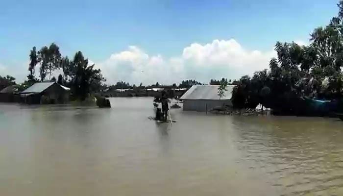 গাইবান্ধায় বিপদসীমার উপরে ব্রহ্মপুত্র ঘাঘট নদীর পানি
