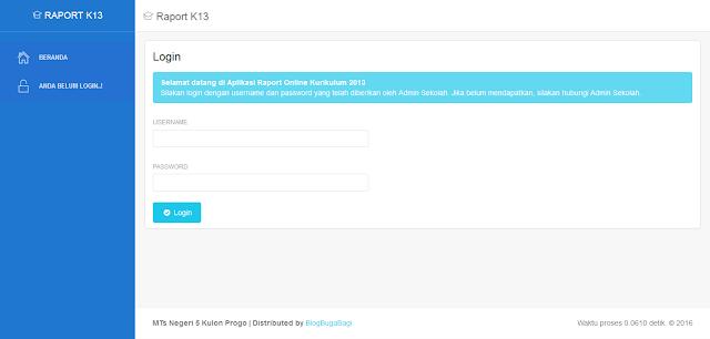 Source Code PHP Aplikasi Rapor dan Nilai Siswa K13 Berbasis Web